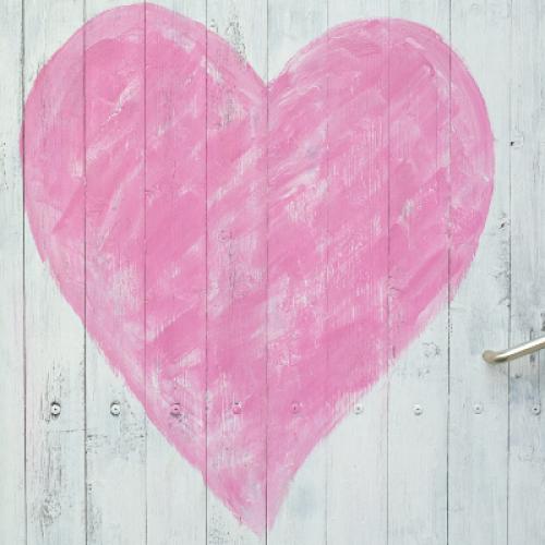 Herz rosa